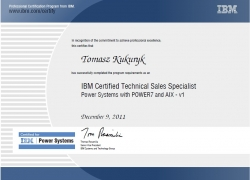 Certified Technical Sales Specialist